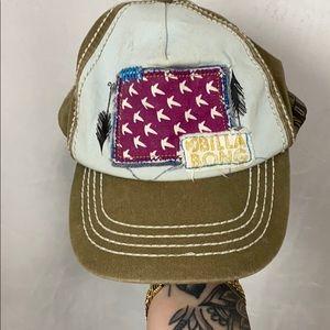 BILLABONG GREEN EMBROIDERED SNAPBACK BALL CAP HAT